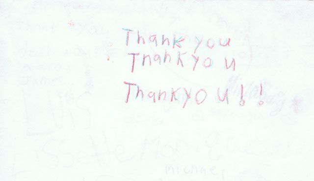 Thank You Card Cover