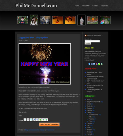 2009 Blog Layout